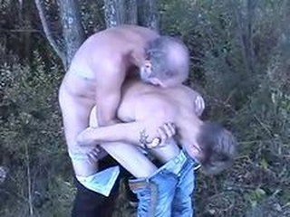 Young Teen Boy Fucked In The Woods By An Old-bearded Man