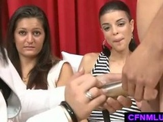 Small penis humiliation with girls watching