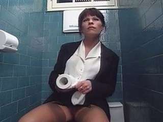 Asian MILF Toilet