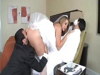 Ass Bride Clothed Cuckold Licking MILF