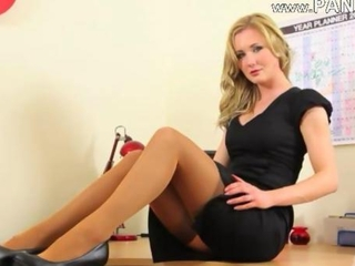 Blonde Office Secretary Stockings Stripper Teen