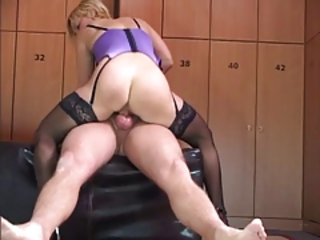German Blonde in the lockerroom Stream Porn