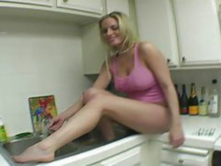 Bathing sexy soft feet in the sink tubes