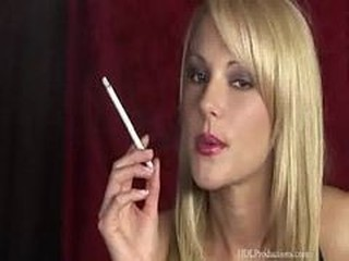 Babe Blonde Pornstar Smoking