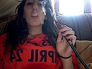 Hot Babe smokin Hookah#