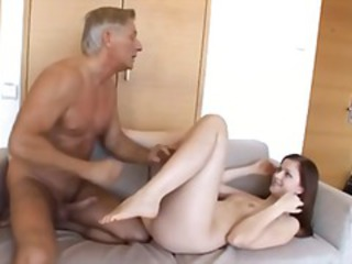 Old and Young Skinny Small Tits