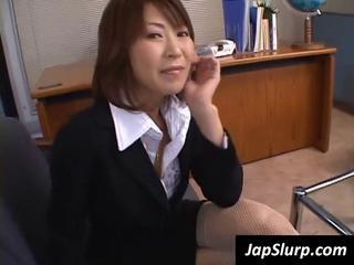 Asian Japanese MILF Office Secretary