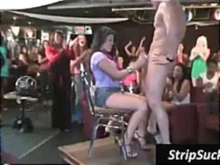 Big party at the strip club with strippers getting their cocks sucked
