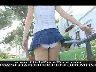 Ass Outdoor Skirt Teen Upskirt