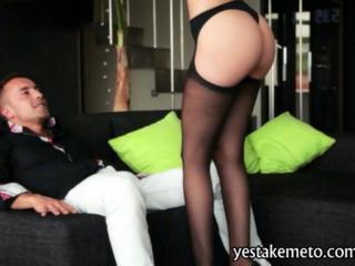 Seductive babe Carol Vega blowjob and rides on cock