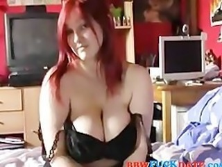 Amateur BBW Big Tits Girlfriend Homemade Natural Redhead