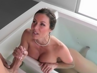 Amazing Bathroom Big Tits Cute Handjob MILF Mom