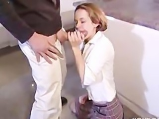 Big cock Blowjob Clothed Teen