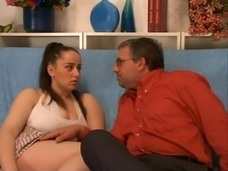 Big Tits Chubby Daddy Daughter Natural Old and Young Teen