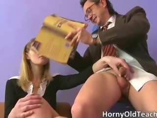 Daddy Handjob Old and Young Small cock Teacher Teen