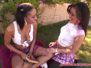 College Lesbians Strap On And Fuck Pussy