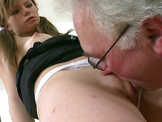 Close up Daddy Licking Old and Young Teacher Teen