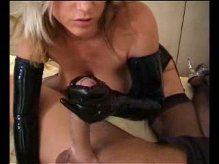 Handjob Latex Stockings Teen
