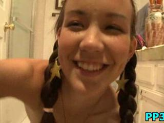 Bathroom Pigtail Teen