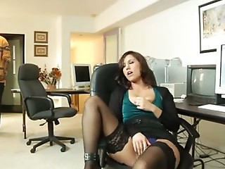 Latina Masturbating MILF Mom Stockings