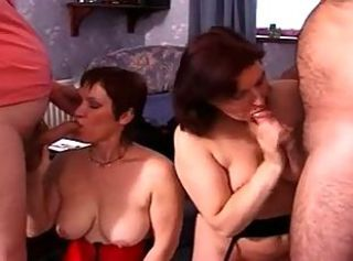 British housewifes get fucked in a FFMM foursome
