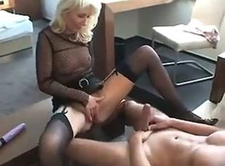 European Fishnet German MILF Stockings