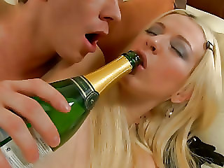 Blonde Drunk Teen