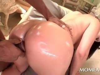 Ass Doggystyle Oiled Wife