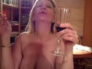 Drunk European French Mature Smoking