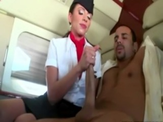 Big cock Handjob MILF Uniform
