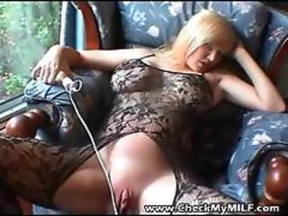 Clit Lingerie MILF Pussy Shaved