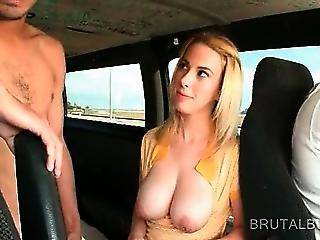 Blonde Chesty Amateur Rubs And Tit Fucks Hungry Cock