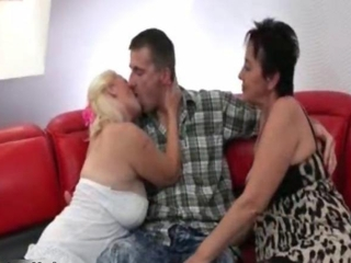 Kissing Mature Threesome