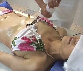 Asian Bikini Japanese Massage Oiled Skinny Small Tits