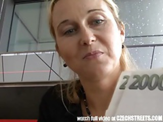 Czech streets - blonde milf picked up on street tubes
