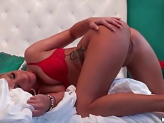 Plowing tight blonde in the cunt from behind tubes