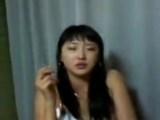 Amateur Asian Girlfriend Homemade Korean Smoking