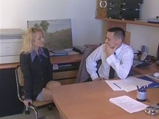 Babe European French Office Secretary Stockings