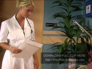 Babe Blonde Doctor Uniform