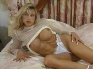 "Busty blonde bodybuilder trades oral and then gets her ass hammered"" target=""_blank"