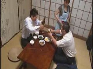 Asian Daddy Daughter Drunk Family Japanese Old and Young