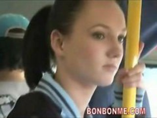 Bus Cute Public Teen