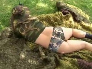 Army Ass MILF Outdoor