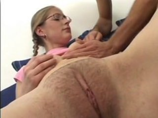 Clit Close up Glasses Hairy Pussy Teen