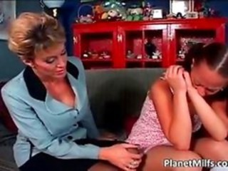 Ebony Interracial Lesbian MILF Old and Young Teen