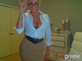 Amazing Glasses MILF Secretary Webcam