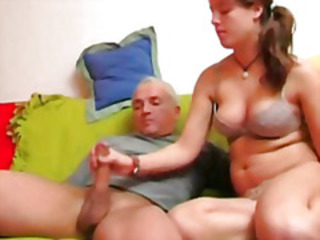 Chubby Handjob Old and Young