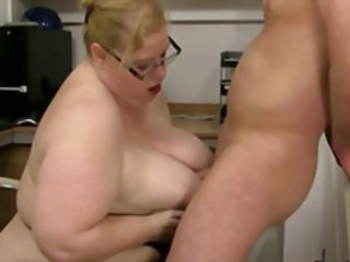 Mean BBW boss takes advantage of a guy