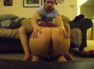 Chubby emo girl gives blowjob fucks and swallows cum