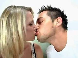 Johnny Castle Gets This Blonde Babe To Strip And Fuck Him